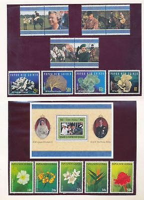 PAPUA NEW GUINEA PNG Flowers Air Royalty MNH 1997 Year Collection Pack (Pap14)