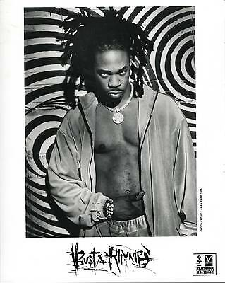 Busta Rhymes E.l.e. The Final World Front 1998 Press Kit With Publicity Photo