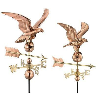 Good Directions Smithsonian Eagle Weathervane, Polished Copper - 955P