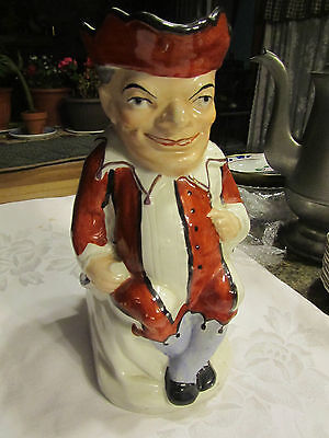 Vintage TOBY JUG Pitcher Male seated Old Staffordshire 381 Ware England CAR