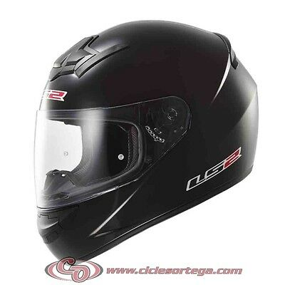 Casco integral LS2 FF352 ROOKIE SOLID Negro Brillo Talla M