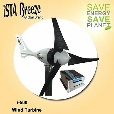 24V HYBRI KIT  Offer ISTA-BREEZE®  i-500 Small WIND GENERATOR +Charge Controller