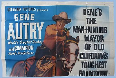 Vintage - Valley Of Fire - Gene Autry - Original Three Sheet Poster - 1951
