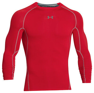 Under Armour Heatgear Compression Longsleeve Shirt Red Steel 1257471-600