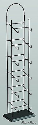 Planet Racks 6-Tier Counter Hat Cap Tower Display - Black