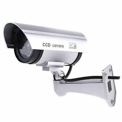 IR Simulat Mock Security Camera Surveillance CCD Motion Activated Red Flashing
