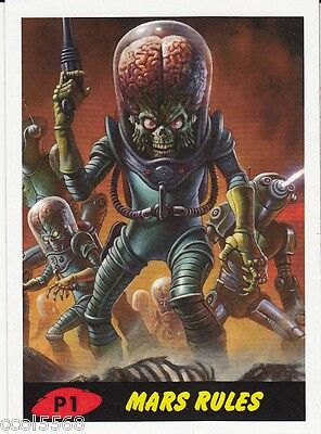Mars Attacks Red P1 Exclusive Philly Show Promo Card 2015 Aliens