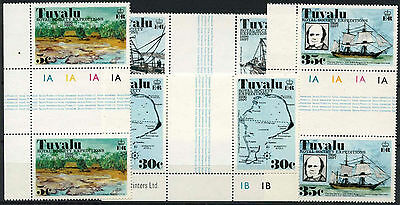 Tuvalu 1977 SG#77-80 Royal Society Expeditions MNH Gutter Pairs Set #A86284