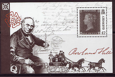 GUERNSEY 2015 175th ANNIVERSARY PENNY BLACK UNMOUNTED MINT, MNH