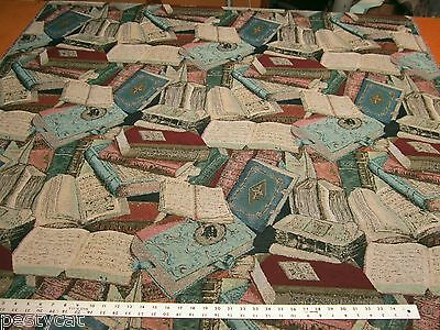 Regal Literary Guild  Books Tapestry upholstery fabric per yard
