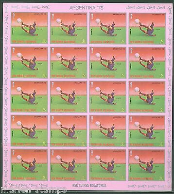 Equatorial Guinea World Cup Soccer 1978 Sheets Containing 20  Imperf