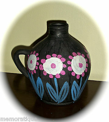VINTAGE STONEWARE JUG - MADE IN POLLAND - RARE - NICE COLORS - FRENCH COUNTRY