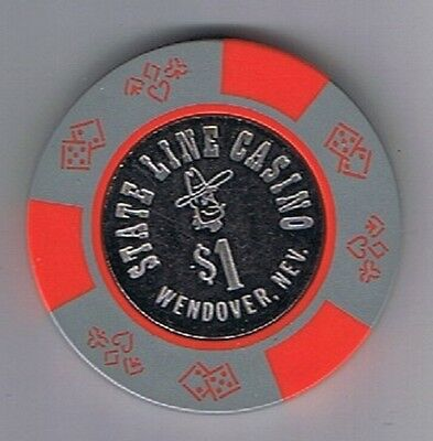 State Line $1.00 Coin Center Casino Chip  Wendover, Nevada