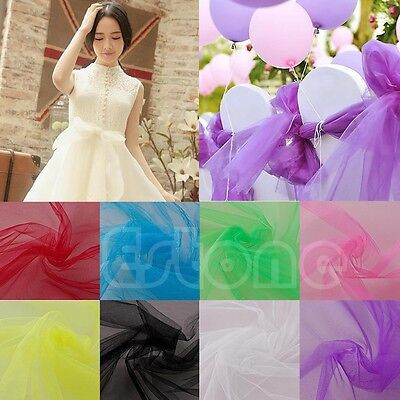 "6""x100yd(6""x300') Spool Tutu Craft Wedding Party Bow Tulle Roll Decoration Gift"