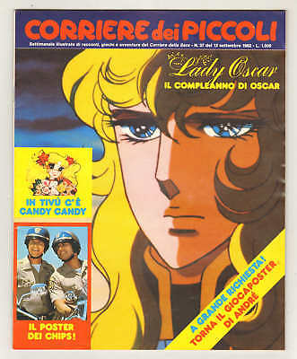 CORRIERE DEI PICCOLI 1982 n. 37 + poster CHIPS giocaposter ANDRE'