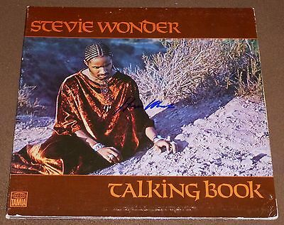 STEVIE WONDER SIGNED TALKING BOOK RECORD ALBUM w/ EXACT VIDEO PROOF!