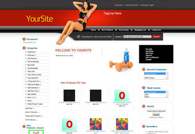 Established ECOMMERCE FITNESS WEIGHT LOSS STORE SHOPPING CART website for sale