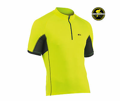 Maglia Manica Corta NORTHWAVE FORCE Giallo Fluo/JERSEY NORTHWAVE FORCE YELLOW FL