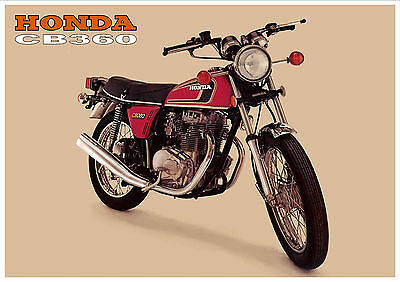 HONDA Poster Classic CB360 1970's Suitable to Frame