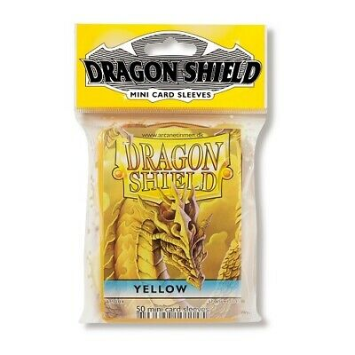Dragon Shield 50 Mini Size Deck Protector Sleeves Yellow TCG YGO Yugioh