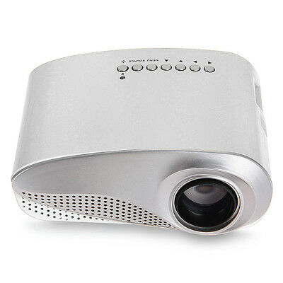 Mini LED Multimedia Projector Portable Cinéma Projecteur 1080P HDMI TV AV Blanc