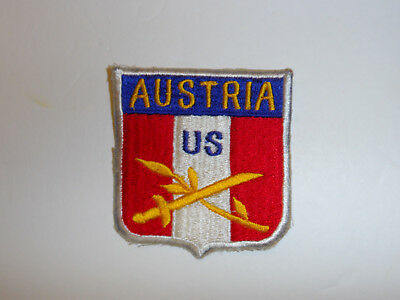 b5598 Post WW2 US Army Austria HQ Head Quarters 1st style R9A