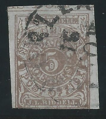 CSA Scott #62x4 Pos 6 Part Imprint New Orleans Used Provisional Stamp Ex-Skinner