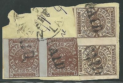 CSA Scott #62x3 Pair & #62x4 Pair Provisional Stamps Used on Piece 4x Rate PAID