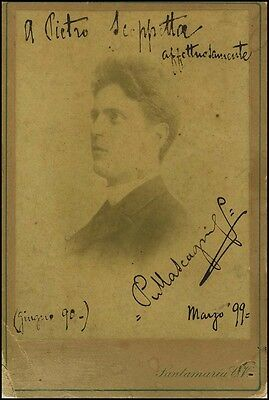 Pietro MASCAGNI (Composer): Early Signed Photo
