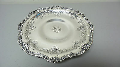 Fabulous Sterling Silver Low Pedestal Tray / Centerpiece, Black, Starr & Frost