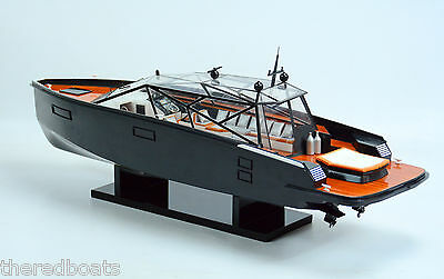 "Wally Power Concept Design Luxury Yacht 28"" - Handmade Wooden Boat Model"