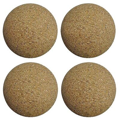 4 Cork Foosballs Natural-Wood Colored Table Soccer Foos Balls.