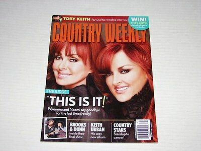 Country Weekly Magazine Oct 2010 Issue The Judds - Toby Keith Brooks & Dunn ++