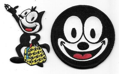 Felix the Cat with Bag of Tricks and Felix Face Patch Set of 2 NEW UNUSED