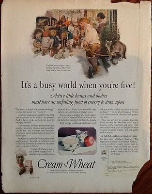 Cream of Wheat cereal ad 1925 original vintage color 1920s Illustrated art print