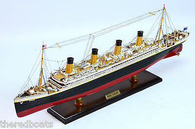 RMS Titanic High Quality scale 1:350 - Handmade Wooden Ocean Liner Model NEW