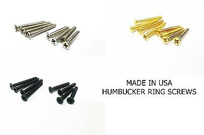USA Humbucker Les Paul Surrounds Mounting Ring Screws Set Fit Gibson Dimarzio