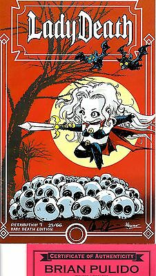 Lady Death Retribution 1 BABY DEATH edition 29/66 signed Pulido FREE UK POST NM
