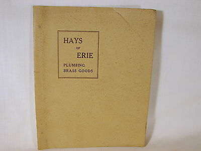 Old ca. 1933 Hayes of Erie Brass Plumbing Goods Catalog, Excellent Used Conditn.
