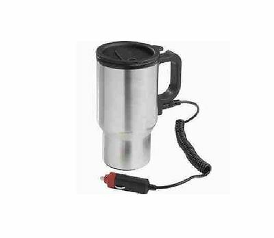 New 12v S/S Stainless Steel Car Heated Warm Travel Electric Mug Kettle Jug