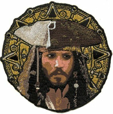 Walt Disney's Pirates of Caribbean Jack and Coin Embroidered Patch NEW UNUSED