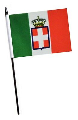 Italy 1861 to 1946 Small Hand Waving Flag