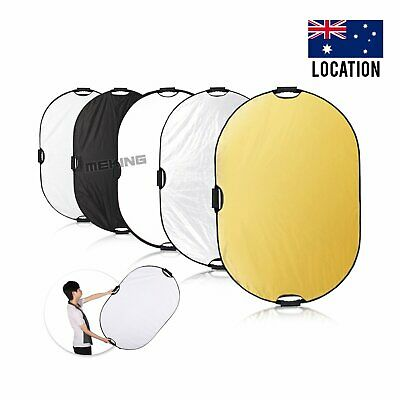 Selens 5 in 1 80x120cm Collapsible Light Reflector Portable for Photo Studio AU