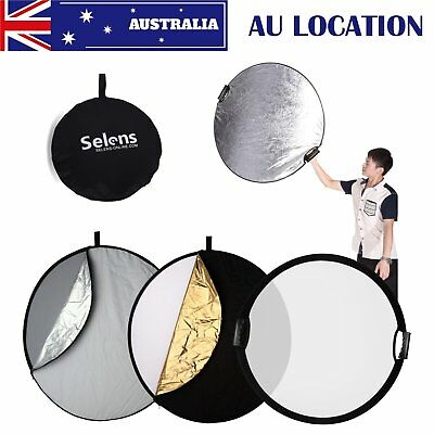 """110CM 43"""" 5 in 1 Light Mulit Collapsible Portable Reflector For Light Control AU"""