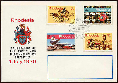 Rhodesia 1970 Posts And Telecommunuications FDC First Day Cover #C15239