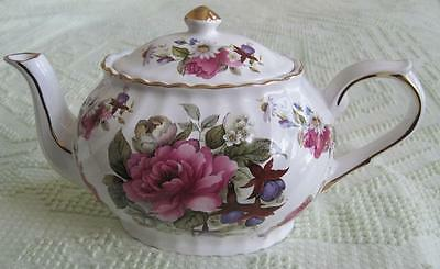 Arthur Wood Summer Floral 6 Cup Teapot Trimmed in Gold Made in England #6577