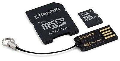 Kingston (64GB) Multi-Kit/Mobility Kit with a Single Card with SD Adaptor and a
