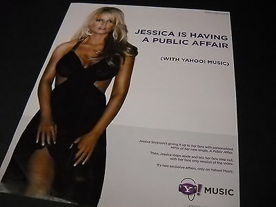 JESSICA SIMPSON Is Having A Public Affair... 2006 Photo Image PROMO DISPLAY AD