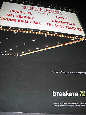 WOLFMOTHER Cartel YOUNG LEEK Mat Kearney others 2006 PROMO DISPLAY AD mint cond.