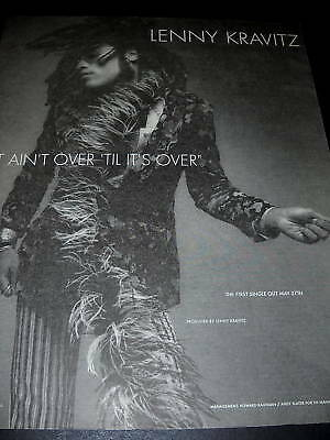LENNY KRAVITZ 1991 Finger Snapping PROMO POSTER AD mint